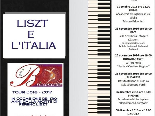 "I Bricconcello- ""Liszt e l'Italia – 130°"