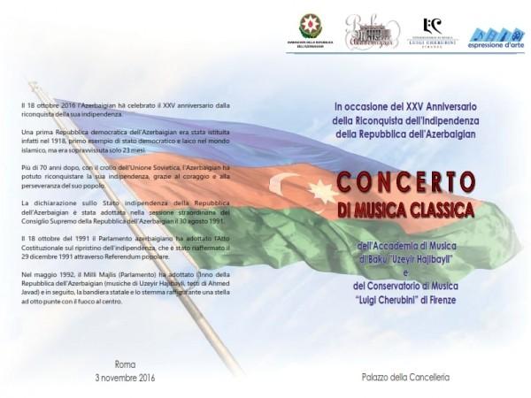Roma – 25° anniversario indipendenza dell'Azerbaijan